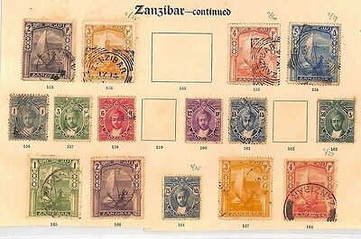 SA1215 ZANZIBAR Original Album page from old-time collection