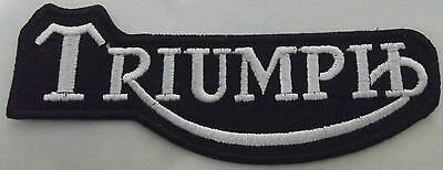 Embroidered  cloth patch ~ Triumph Script logo  x 2  Pair.    B021101