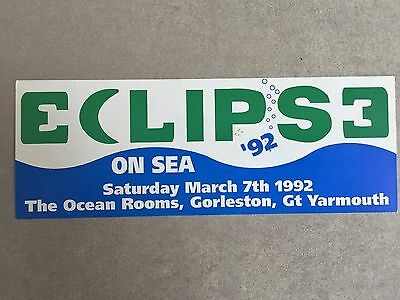 Groove Ii Promotions Eclipse On The Sea 1992 Gt Yarmouth Rave Flyers Flyer