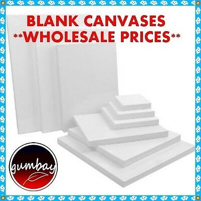 10x Standard Blank Artist Stretched Canvas 10 X 10 X 2cm Wholesale Prices