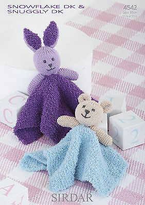 Sirdar Knitting Pattern Baby Comforters 4542 Snuggly Snowflake DK Double Knit