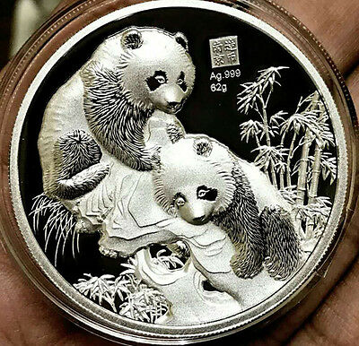2017 China Temple of Heaven Panda 62g Silver High Relief Medal Mintage:168