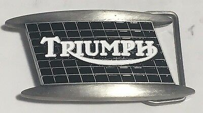 Belt Buckle ~ Triumph  mouth organ tank badge.  B031004