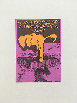 THE WORKING CLASS GOES TO HEAVEN Original Hungarian Vintage Movie Poster 1973