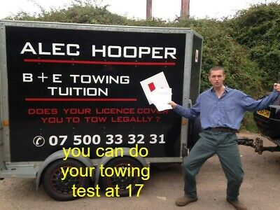 trailer towing tuition/tow bar/bike trailer/car transporter/car trailer