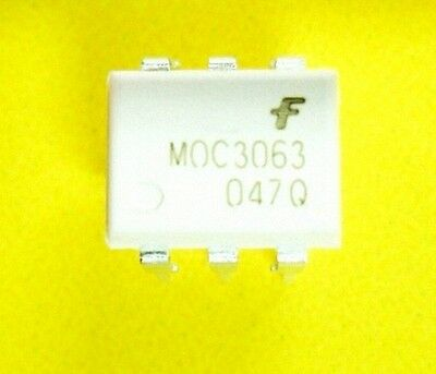 5 pcs MOC3063 OPTOCOUPLER TRIAC 600V 6DIP ZC New