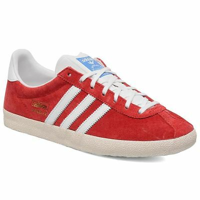 adidas Gazelle OG Red Trainers Mens Suede Casual Retro Samba Shoes Size 12