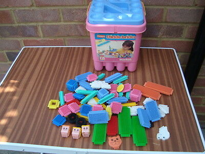 PLAYSKOOL STICKLE BRICKS(66pcs)INCL RARE PASTELS+TUB-£13.99 INCL FREE UK POST!!