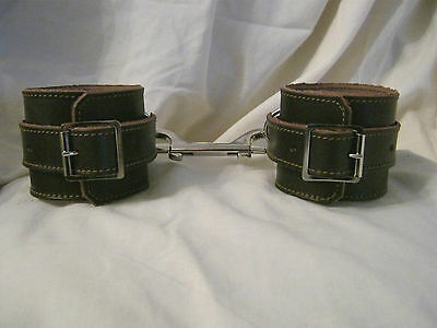 Chocolate Truffle Real Leather Fetish/Bondage Handcuff Restraints