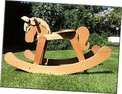A Classic Handmade Wooden Rocking Horse in Very Good Condition