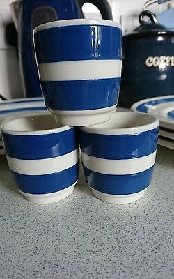 t g green cornishware 3 egg cups