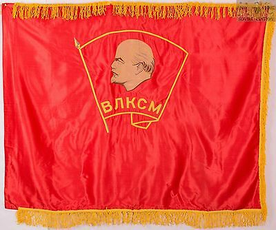 Soviet union original flag banner komsomol school Lenin USSR Russian communist