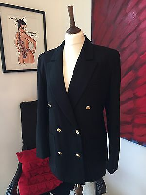 Retro Vintage Blazer Women's Size 10 Double Breasted  St Michael M&S New Wool