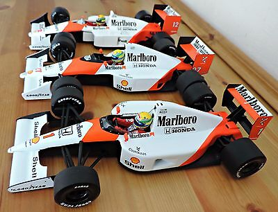 Ayrton Senna World Champion Cars 1988,90,91 Marlboro 1:18 MINICHAMPS BNIB