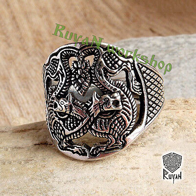 Wolwes ring. Fenrir Ring. Wolf ring. Odin Wolwes ring Viking ring Viking Jewelry