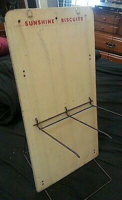 RARE! Antique Sunshine Biscuits Store Display Rack / Collapsible