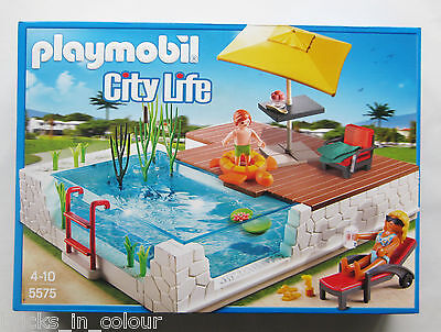 PLAYMOBIL 5575 - City Life - Einbau-Swimmingpool Moderne Luxusvilla - NEU + OVP