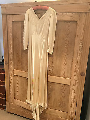 Vintage Wedding Dress Original Antique 1930's Bias Cut Hollywood Glamour