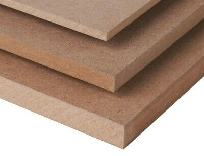 MDF 3' x 2' SHEETS BOARDS 2mm,3mm,4mm,6mm,9mm,12mm,15mm,18mm,22mm,25mm THICKNESS