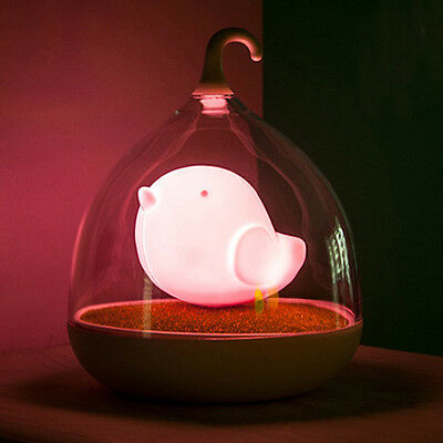 Portable LED Bird Cage Lamp One Touch Dimmable Rechargeable Bedroom Night Light