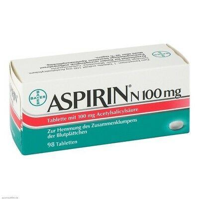ASPIRIN N 100 mg Tabletten 98St PZN 05387239