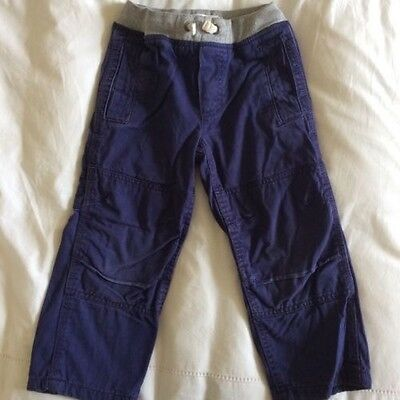 Superb Mini Boden Boys' Lined Trousers, Blue, Age 4 Years