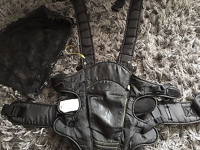 Mothercare Black Baby Sling (Birth to 12kg) & Bag