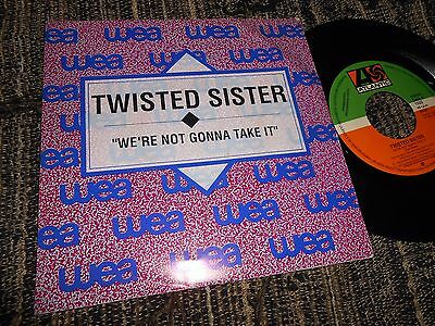 """Twisted Sister We're Not Gonna Take It Single 7"""" 1992 Promo Double Side Spain"""