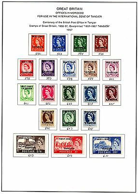 Morocco Agencies - QE2 Sets 1952/57 - Tangier Overprints 3 x Album Pages - Mint