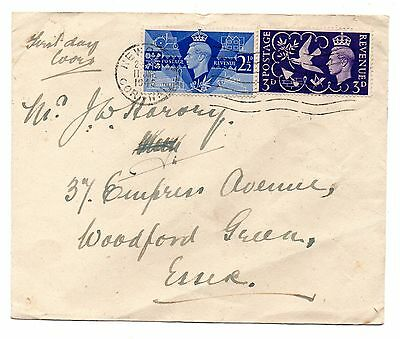 Gb 1946 Kg Vi Peace Issue First Day Cover - Cat £65 (As Plain  Cover)