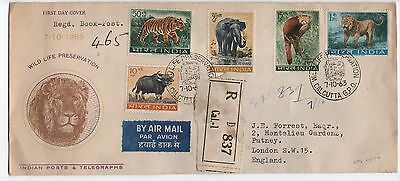 India 1963 Wild Life Preservation First Day Cover