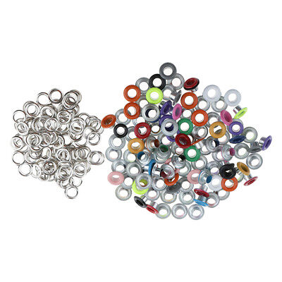100x Metal Eyelets Scrapbooking DIY Embellishment Clothes Buckle Decor 3mm