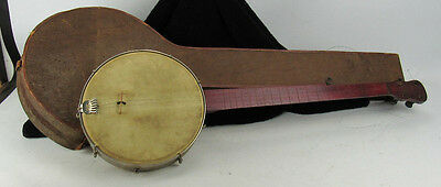 Antique 5 String Banjo For Parts Or Restoration 1887 Tail Piece Patent Date