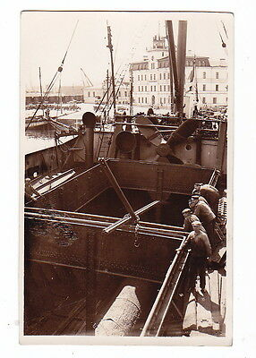 OLD Real Photo Postcard Russia Estonia Tallinn Reval Port Ships 1920s