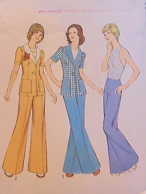 DIY 1973 Vintage Style Brand Jacket Trousers & Top Sewing Pattern Size 12 # 4171