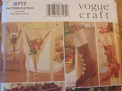 DIY VOGUE Craft Stylish Christmas Accents Sewing Pattern - # 9717