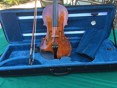Antique Violin Full size With Bow And Case