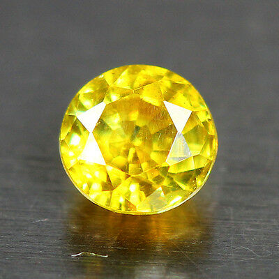 0.65 Cts-YELLOW DIAMOND HUE- Sun Set Electric Yellow - 100 % Natural Sphalerite