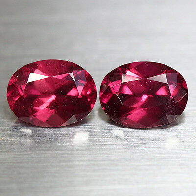 3.24 Cts_Wow_Matching Pair_100% Natural Purplish Pink Rhodolite Garnet_Srilanka
