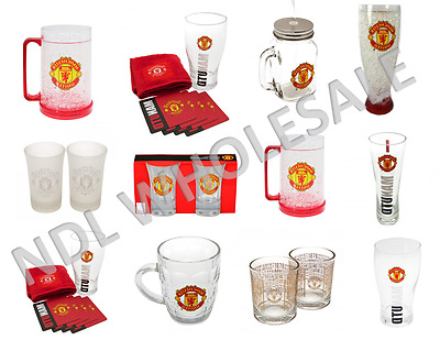 MANCHESTER UNITED Pint Glass Shot Glass Whiskey Glass Tankard Mason Jar Gift