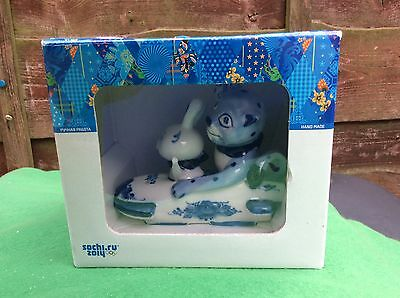Leopard And The Hare Sochi Olympic Games 2014 Ceramic Bobsleigh Mascot