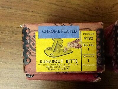 "Antique Wilcox and Crittenden Boat CLEAT Tie Down,  ""Runabout Bitts"""