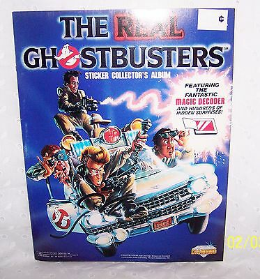 The Real Ghostbusters Sticker Collector's Album + Magic Decoder =1986 =Vintage