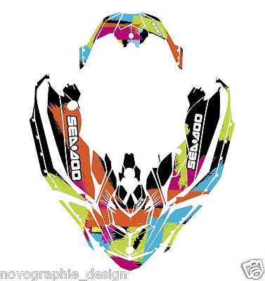 Seadoo SPARK Bombardier 2up 3up Jet Ski Graphic Kit Decal Vinyl Wrap Custom 2017