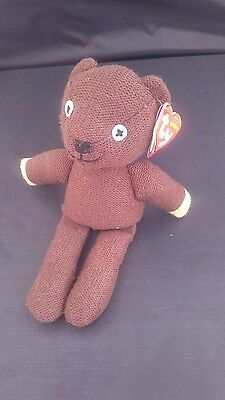 Ty Beanie Baby - Teddy Mr Bean - Teddy Bear - Soft Collectable Toy - Mint