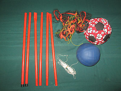2 x Volley Balls  with Portable Stand for Net - Use on beach or lawn