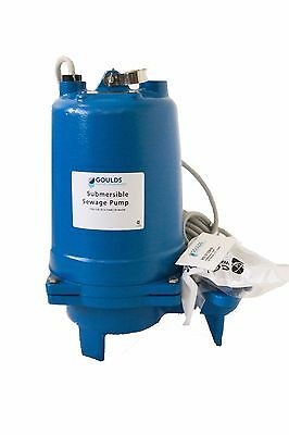 WS0311BHF Goulds 1/3 HP 115 Volts Submersible Sewage Pump Single Phase