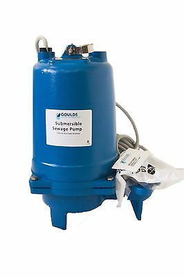 Goulds WS0511BHF Submersible Sewage Pump, 1/2 HP, 115 Volts, 1PH