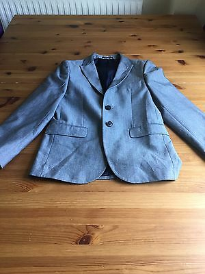 Next Signature Boys Age 12 Grey Suit Jacket Lined Worn Once