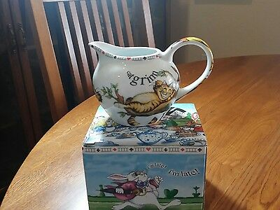 Paul Cardew Alice in Wonderland Cat Creamer,  Pitcher, Jug in box